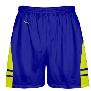 Royal Blue Yellow Lacrosse Shorts OG - Lax Shorts Mens Boys