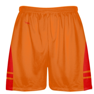 Orange  Red Lacrosse Short OG - Lacrosse Shorts Mens Boys