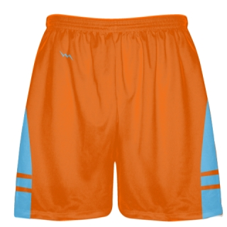 Orange Light Blue Lacrosse Short OG - Lacrosse Shorts Mens Boys