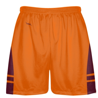 Maroon Orange Lacrosse Short OG - Lacrosse Shorts Mens Boys
