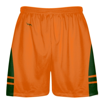 Orange  Forest Green Lacrosse Short OG - Lacrosse Shorts Mens Boys