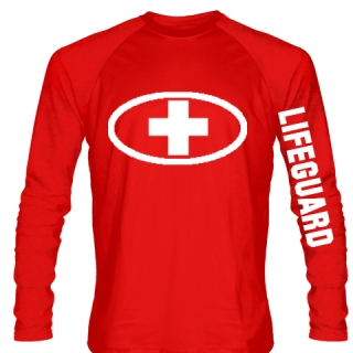 Lifeguard Shirt Long Sleeved - Custom Lifeguard Shirt