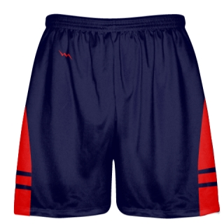 OG Navy Red Lacrosse Shorts - Mens Kids Lax Shorts