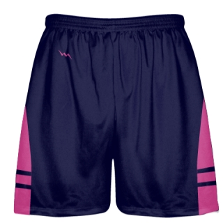 OG Navy Hot Pink Lacrosse Shorts - Mens Kids Lax Shorts