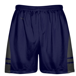 OG Navy Blue Dark Gray Lacrosse Shorts - Mens Kids Lax Shorts