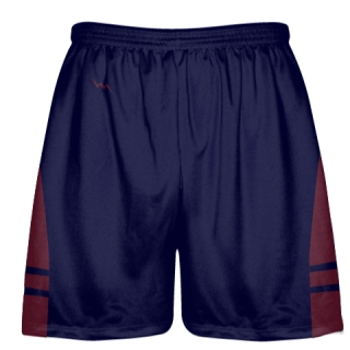 OG Navy Blue Maroon Lacrosse Shorts - Mens Kids Lax Shorts