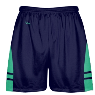 OG Navy Blue Teal Lacrosse Shorts - Mens Kids Lax Shorts