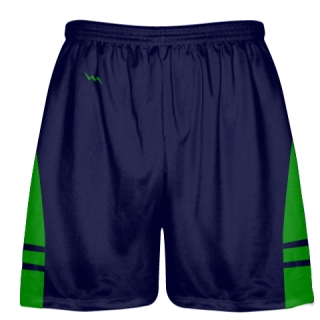 OG Navy Blue Kelly Green Lacrosse Shorts - Mens Kids Lax Shorts
