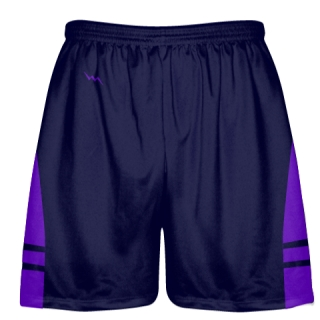 OG Navy Blue Purple Lacrosse Shorts - Mens Kids Lax Shorts
