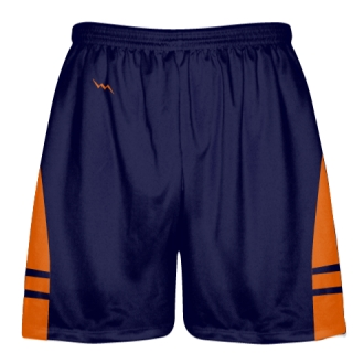 OG Navy Blue Orange Lacrosse Shorts - Mens Kids Lax Shorts