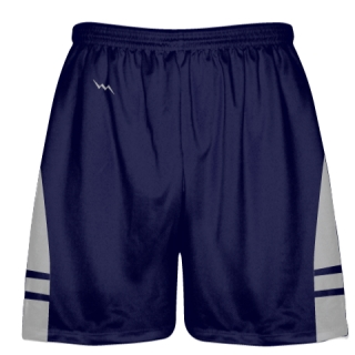 OG Navy Blue Silver Lacrosse Shorts - Mens Kids Lax Shorts