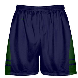 OG Navy Blue Forest Green Lacrosse Shorts - Mens Kids Lax Shorts