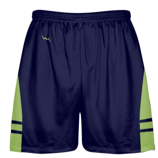 OG Navy Blue Lime Green Lacrosse Shorts - Mens Kids Lax Shorts