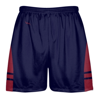 OG Navy Blue Cardinal Red Lacrosse Shorts - Mens Kids Lax Shorts