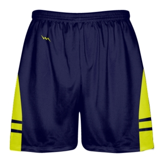OG Navy Blue Yellow Lacrosse Shorts - Mens Kids Lax Shorts