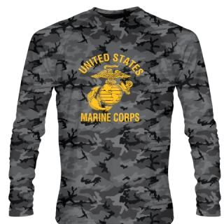 USMC Shirts - Long Sleeve Camouflage Marines Shirts - United States Marines