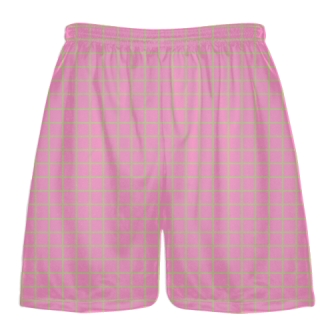 Grid Pink Vegas Gold Lacrosse Shorts - Pink Lax Shorts - Youth Lacrosse Shorts