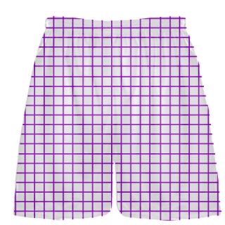 Grid White Purple Lacrosse Shorts - Pink Lax Shorts - Youth Lacrosse Shorts