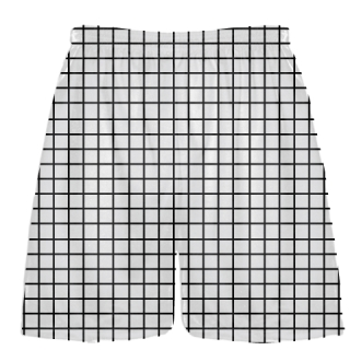 Grid White Black Lacrosse Shorts - Pink Lax Shorts - Youth Lacrosse Shorts