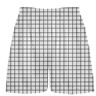 Grid White Charcoal Lacrosse Shorts - Pink Lax Shorts - Youth Lacrosse Shorts