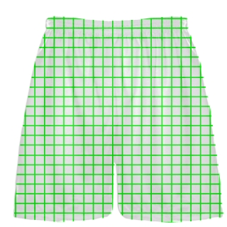 Grid White Neon Lacrosse Shorts - Pink Lax Shorts - Youth Lacrosse Shorts
