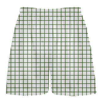 Grid White Forest Green Lacrosse Shorts - Pink Lax Shorts - Youth Lacrosse Shorts