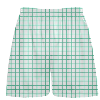 Grid White Teal Lacrosse Shorts - Pink Lax Shorts - Youth Lacrosse Shorts