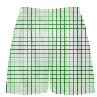 Grid White Kelly Green Lacrosse Shorts - Pink Lax Shorts - Youth Lacrosse Shorts