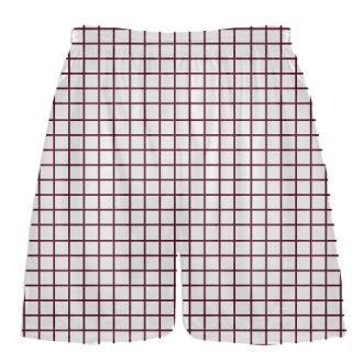 Grid White Maroon Lacrosse Shorts - Pink Lax Shorts - Youth Lacrosse Shorts