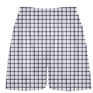 Grid White Navy Blue Lacrosse Shorts - Pink Lax Shorts - Youth Lacrosse Shorts