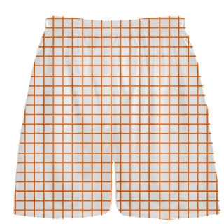 Grid White Orange Lacrosse Shorts - Pink Lax Shorts - Youth Lacrosse Shorts