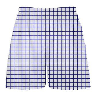 Grid White Royal Blue Lacrosse Shorts - Pink Lax Shorts - Youth Lacrosse Shorts