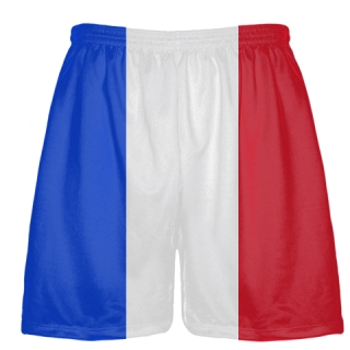 France Flag Shorts - Custom Flag Shorts France - France Shorts