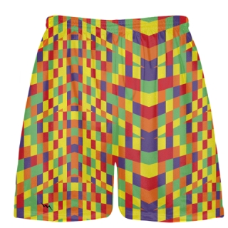 Fruitcake Blocks Lacrosse Shorts - Youth Adult Lacrosse Short