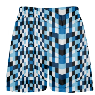 Fruitcake Blocks Blue Lacrosse Shorts - Mens Boys Lacrosse Shorts
