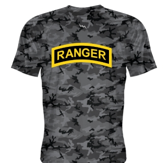 Blackout Camouflage Camo Ranger T Shirt - Ranger T Shirts - Shooter Shirts