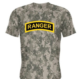 Faded Camouflage Camo Ranger T Shirt - Ranger T Shirts - Shooter Shirts