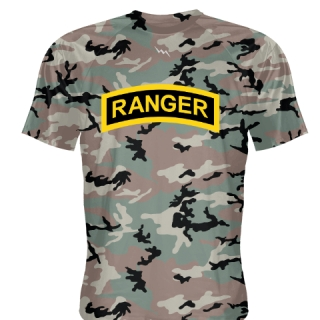 Green Camouflage Ranger T Shirt - Ranger T Shirts - Shooter Shirts