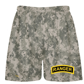Faded Camouflage Army Ranger Shorts - Army Ranger Black Shorts - Athletic Shorts Army