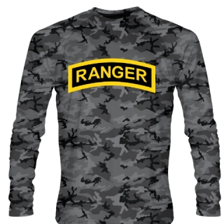 Blackout Army Ranger Long Sleeve Shirts - Long Sleeve Shooter Shirts