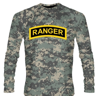 Faded Green Digital Camouflage Army Ranger Long Sleeve Shirts - Long Sleeve Shooter Shirts