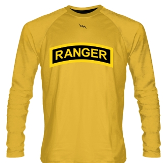Gold Army Ranger Long Sleeve Shirts - Long Sleeve Shooter Shirts
