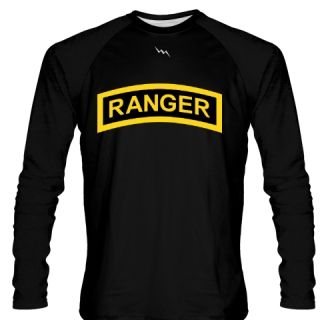 Black Army Ranger Long Sleeve Shirts - Long Sleeve Shooter Shirts