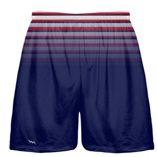Red White Blue Ombre Lacrosse Shorts