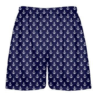 Anchor Lacrosse Shorts - Boys Lacrosse Short - Mens Lacrosse Shorts With Anchors