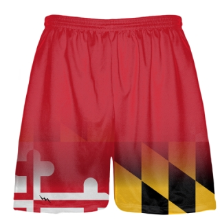 Red Fade Maryland Flag Shorts