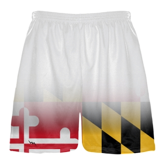 White Fade Maryland Flag Shorts
