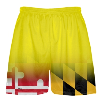 Yellow Fade Maryland Flag Shorts