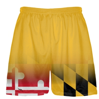Gold Fade Maryland Flag Shorts