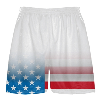 White Fade USA Flag Shorts